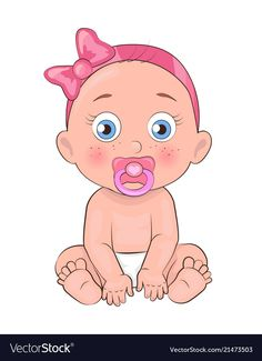 Newborn girl toddler pacifier in mouth and diapers Best Picture For Baby Alive Diaper Pattern For Yo Baby Shower Labels, Baby Shower Parties, Baby Boy Shower, Baby Shower Gifts, Baby Kicking, Baby Alive, Baby Arrival, Baby Cartoon, Baby Cards