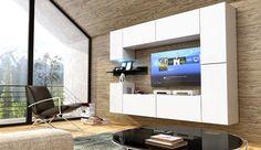 Kedvenc bútor / Modern nappali bútor CONCEPT 13 (matt) Living Room Furniture, Modern Design, Furniture Design, Lights, Concept, Tv Units, Home, Tvs, Modern Living