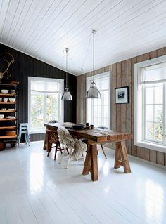 Fritidshus i Norge: Rustik idyl i sneen - Boligliv