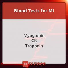 Know the important blood tests for myocardial infarction! It determines the difference between MI and angina! --- Visit http://qdnurses.com/qdmemes for your daily dose of nursing education! --- #nclex #nursing #nclextips #nclex_tips #nurse #nursingschool #nursing_school #nursingstudent #nursing_student
