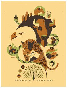 elmwood zoo poster by *strongstuff on deviantART
