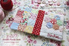 I like the way the back is regular square patchwork and the front has hexies - Very Nice, lovely colors - - - Cherry Heart: Give and make