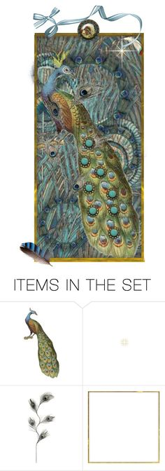 """""""Pleasantly Peacock Bookmark  ~  LIBERTY PRINTS"""" by catfabricsandbuttons ❤ liked on Polyvore featuring art and Pleasantly"""