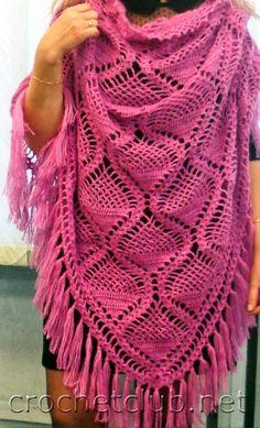 TRICO y CROCHET-madona-mía  Chal a crochet con patrón Chal Tejido A 41acfa7527f