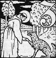Saint Francis instructs the wolf of Gubbio, Carl Weidemeyer-Worpswede, 1911