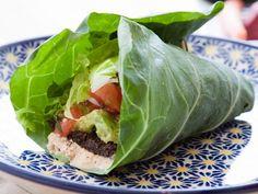Lettuce Wraps + other snack ideas for. Gestational diabetes. Tacos Vegan, Paleo Fish Tacos, Vegan Chipotle, Chipotle Tacos, Tofu Tacos, Vegan Wraps, Cookbook Recipes, Diet Recipes, Vegan Recipes