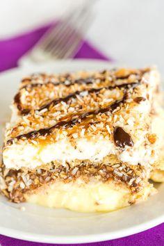 Samoa Icebox CakeReally nice recipes. Every hour.Show me what  Mein Blog: Alles rund um die Themen Genuss & Geschmack  Kochen Backen Braten Vorspeisen Hauptgerichte und Desserts # Hashtag