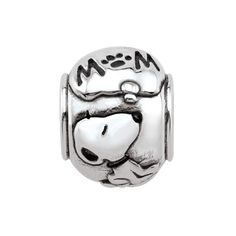 Persona®+Sterling+Silver+Peanuts®+Snoopy+Thinking+of+Mom+Bead