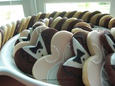 It's a Nice Day for a White Wedding Dress: Heart-Shaped Wedding Dress and Tuxedo Cookies