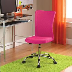 NEW Mainstays Desk Chair, Home Office Chair Sturdy Chrome Base Adjustable Black Home Office, Computer Desk Chair, Desk Chairs, Office Chairs, Room Chairs, Office Desk, Teen Desk Chair, Gaming Chair, Adjustable Height Desk