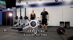 Christine WOD  3 rounds for time:  500 M Row  12 Body weight Dead Lifts  21 Box jumps 20 inches  Can you do it in under 15 min?