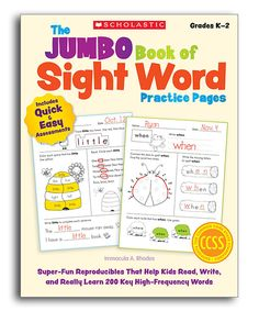 Look at this Scholastic Jumbo Book of Sight Word Practice Pages Workbook on #zulily today!
