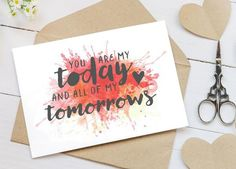 You Are My Today Romantic Cards for Couples