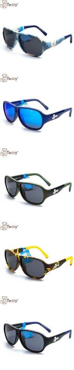New Fashion Child Cool Sun Glasses Children Boys Kids Plastic Black Frame Polarized Sunglasses Goggles Eyeglasses TY10