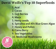 David Wolfe's Top 10 Superfoods
