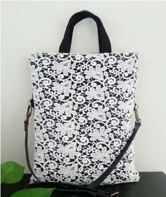 Make to Order: Shabby Chic Rustic Handmade Beautiful Lace Tote L006, Triple Hanging Options