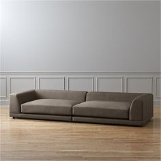uno 2-piece sectional sofa : cb2 sectional sofa - Sectionals, Sofas & Couches