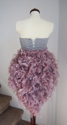 Feather Bustle Tail  Bustle by threadedcreations on Etsy, $75.00