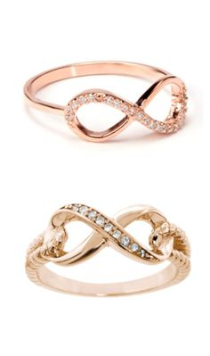 Pave Gold Eternity Rings ♥