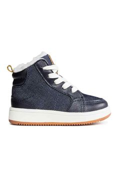 Pile-lined trainers - Dark blue - Kids | H&M