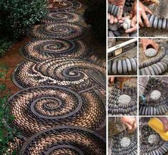 Funny pictures about Awesome stone path design. Oh, and cool pics about Awesome stone path design. Also, Awesome stone path design. Mosaic Rocks, Pebble Mosaic, Rock Mosaic, Mosaic Walkway, Stone Mosaic, Rock Walkway, Outdoor Walkway, Pebble Art, Cobblestone Walkway