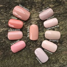 Looking for nude or natural looking nails? Check our guide for achieving the best natural looking nails for you! Cnd Shellac Colors Winter, Shellac Nail Polish Colors, Winter Nail Colors, Summer Nail Polish, Winter Nails, Gel Polish, Acrylic Nails, Love Nails, How To Do Nails