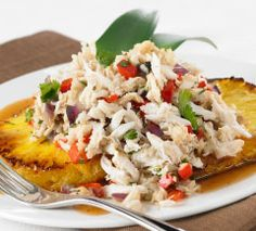 Rum Glazed Pineapple with Calypso Crab Salad