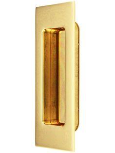 "Madison 4 1/2"" Rectangular Pocket-Door Pull | House of Antique Hardware"