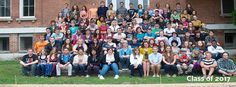 Antioch College's class of 2017! Taken on the main steps of Antioch Hall