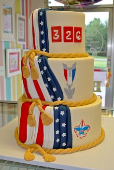 Eagle Scout Court of Honor Cake  www.LeahsSweetTreats.com