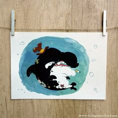 #TerrapinandToad: Original gouache painting - Orca