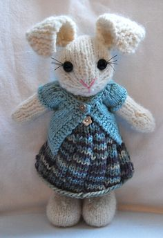 Ravelry: Project Gallery for Well-Dressed Bunny pattern by Barbara Prime