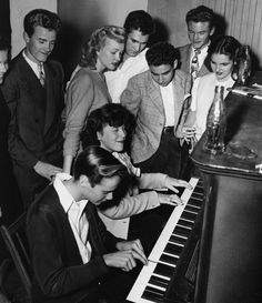 Chopsticks and the gang around the piano 1945.