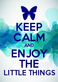 Keep Calm and Enjoy the Little Things. - #lifeadvancer - www.lifeadvancer.com