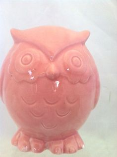 Pink Ceramic Owl Figurine by ShadyLaneCeramics - 10$ comes in a variety of colors