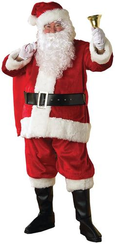 176bcd2a8 Graceful Men's Santa Suit. Outstanding Collection of Santa Claus  Accessories & Makeup for Christmas