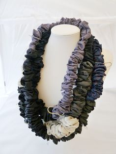 viscose + silver necklace by EANDARE