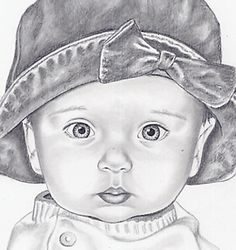 children art - baby - pencil - realistic drawing - portrait