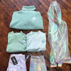 Mint mint @kokonara89 new! #kokopie #softgrunge #tumblr #pastel #holographic