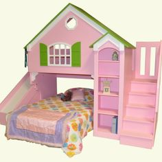Dollhouse Kids Loft Bed