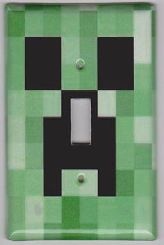 Minecraft Creeper Light Switch Cover. $5.00, via Etsy.