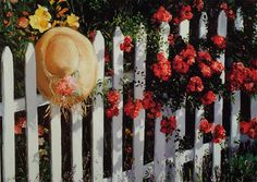 Artist Hat on Fence by LynnNeuman on Etsy