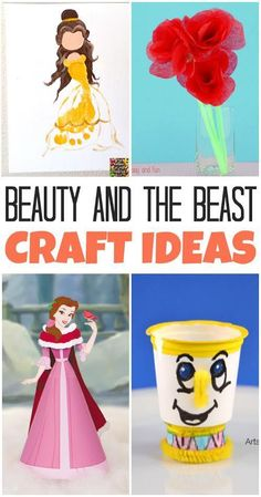 In honor of BEAUTY AND THE BEAST coming to theaters, we've rounded up some of our favorite Beauty and the Beast craft ideas for kids. Here's what to create to be our guest. Disney Crafts For Kids, Crafts For Kids To Make, Fun Crafts, Disney Fun, Beauty And The Beast Crafts, Beauty And The Beast Party, Diy Beauty, Beauty Women, Tissue Paper Roses