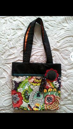 Bolso colorido en  tela de algodon