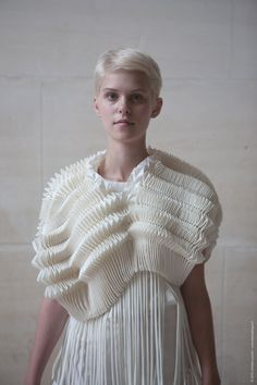 Origami Fashion - structured folds; dimensional patterned texture; fabric manipulation for fashion // Christian Poulot SS11