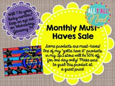 All Y'all Need: SLP Monthly Must Haves for January! Pinned by SOS Inc. Resources. Follow all our boards at pinterest.com/sostherapy/ for therapy resources.