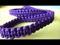 How to make a 4ft paracord cobra weave dog leash easy tutorial - YouTube