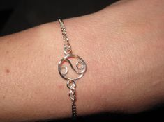 Wire Wrapped Silver Color Yin Yang Bracelet MADE to ORDER. $13.00, via Etsy.