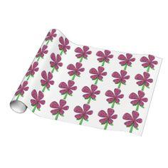 Hip Flower Gift Wrap Paper