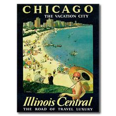 Vintage Visit Chicago Mini Poster adds unique decor to your home or business. Every Americana Travel collector would love this unusual gift. Visit Chicago Mini Posters are ready to hang with tabs on back. Chicago Beach, Chicago Vacation, Chicago Travel, Chicago Shopping, Visit Chicago, Inspiration Artistique, Jackson, Travel Ads, Travel Trip